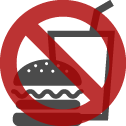 No eating or drinking inside the cabin