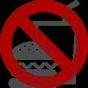 캐빈 내의 음식물 금지
